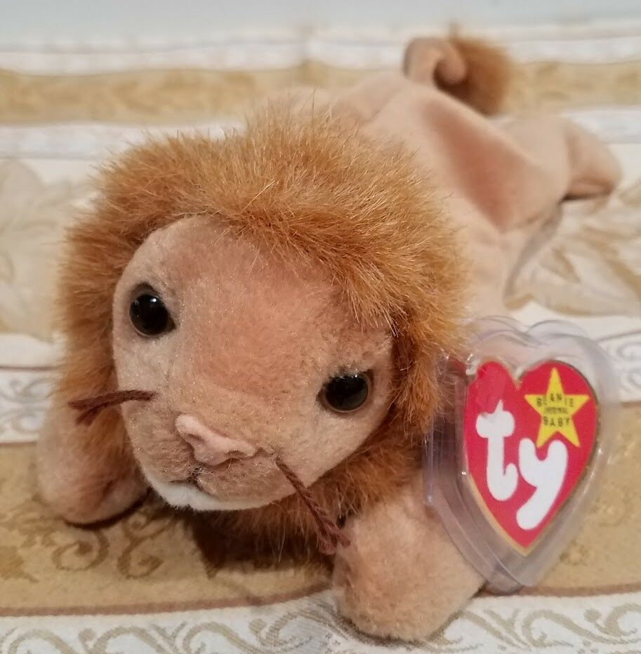 84cf766bcaf RARE Ty Ty Ty Beanie Baby w ERRORS - Roary Lion - MWMT and Tag Predector