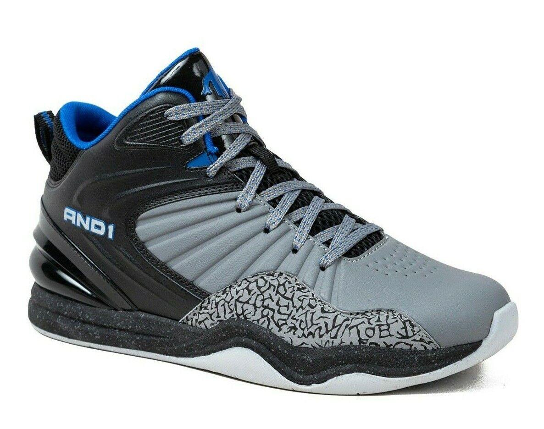 And1 Men's SIZE 9.5 Capital 4.0 Basketball Shoe Hi-Top  Grey Black Blue New READ on eBay thumbnail