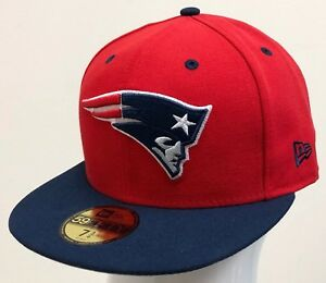 NEW ERA 59FIFTY 2TONE FITTED NFL ON FIELD NEW ENGLAND PATRIOTS Red ... 051c3058e60c