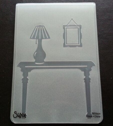 Sizzix grande carpeta de grabación en relieve Vestíbulo Espejo de Lámpara de mesa se adapta Cuttlebug /& Wizard