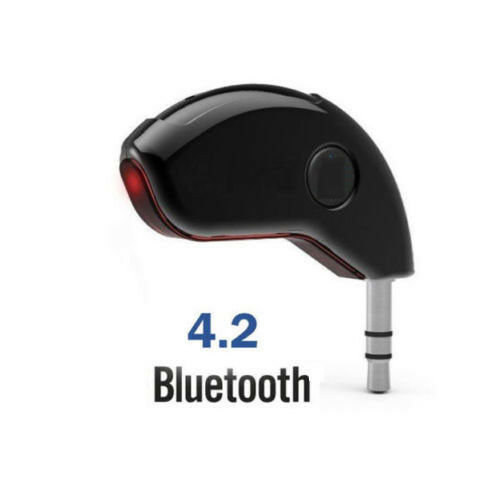3.5mm AUX Wireless Bluetooth 4.2 Audio Stereo Car Music Receiver Adapter Mic