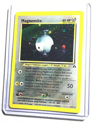 Magnemite holo Unlimited Pokemon Card Neo Discovery 7//75