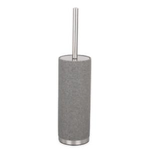 Toilet Brush Holder Highline Grey Brushed Nickel Granite Look Sandstone Made
