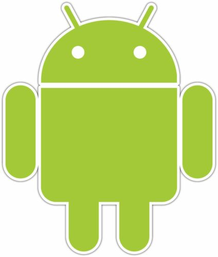 "Droid Cell Phone Car Bumper Window Tool Box Notebook Sticker Decal 4/""X5/"""