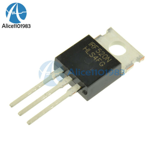 5PCS IRF520N IRF520 Power MOSFET N-Channel TO-220