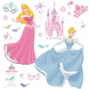 Image Is Loading Disney Princess Wall Stickers Cinderella And Sleeping Beauty