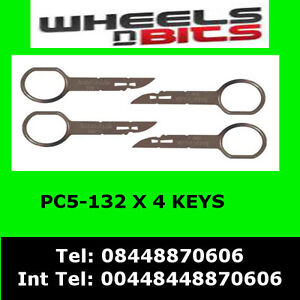PC5-132-fits-Ford-CMAX-05-gt-Stereo-Radio-Extraction-Release-Removal-Keys-x4