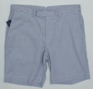Men's POLO RALPH LAUREN Blue White Striped Shorts 35 NWT NEW ...