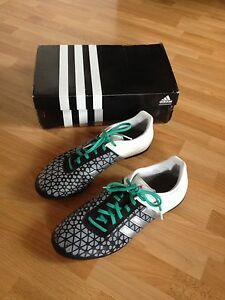 brand new 196c8 f1088 Details about Mens/Teenage Boys Black/Silver/White Adidas ACE 15.3 TF  Football Boots-Size UK 9