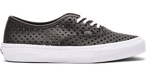 7be0298a98a5a3 Vans AUTHENTIC SLIM PERF STARS BLACK Skate Shoes MENS 8.5 WOMENS 10 ...