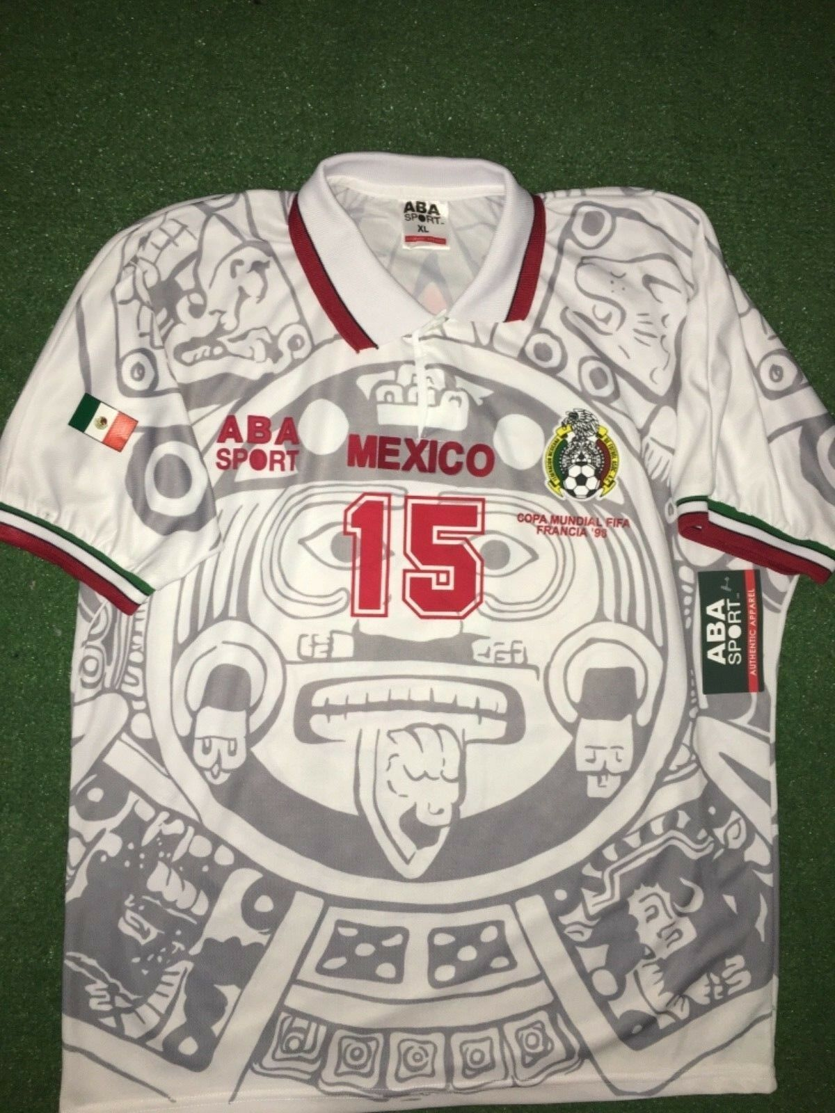 MEXICO AWAY  1998  LUIS HERNÁNDEZ  WC 98, Dimensione XL, AUTHENTIC SHIRT ABA SPORT