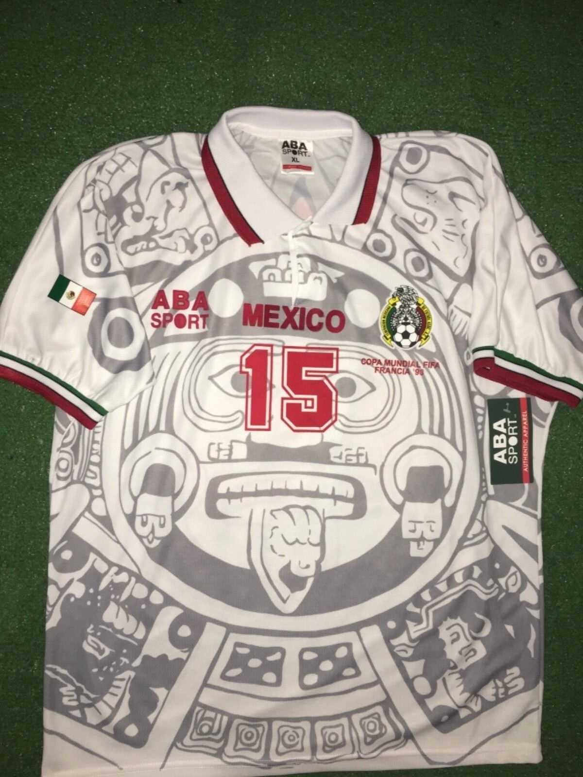 MEXICO AWAY  1998  LUIS HERNÁNDEZ  WC 98, Diuominiione XL, AUTHENTIC SHIRT ABA SPORT