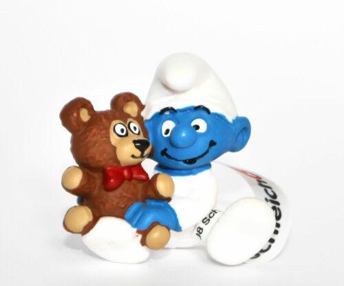 """/""""babyschlumpf con Teddy/"""" 20205 Schleich-nuevo con una banderita-New with día!"""