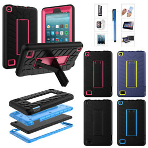 Details about For Amazon Fire 7 9th Gen 2019 2017 2015 Kids Case ShockProof  Stand Rugged Cover