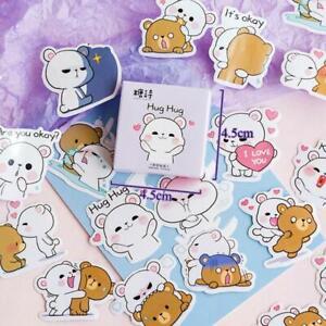 45Pcs-Box-Cute-Bear-Stickers-Kawaii-Stationery-Sticker-Cartoon-Adhesive-Stickers