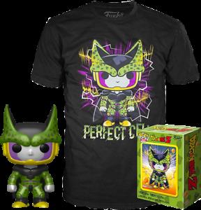 Metallic-Perfect-Cell-DBZ-Funko-Pop-Vinyl-T-Shirt-New-in-Sealed-Box