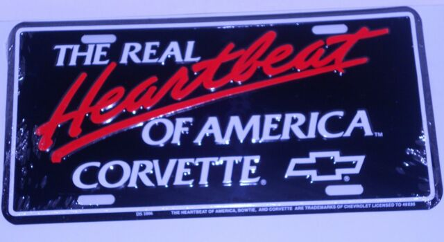 """Chevy Chevrolet Trucks Heartbeat of America 6/""""x12/"""" Aluminum License Plate Tag"""