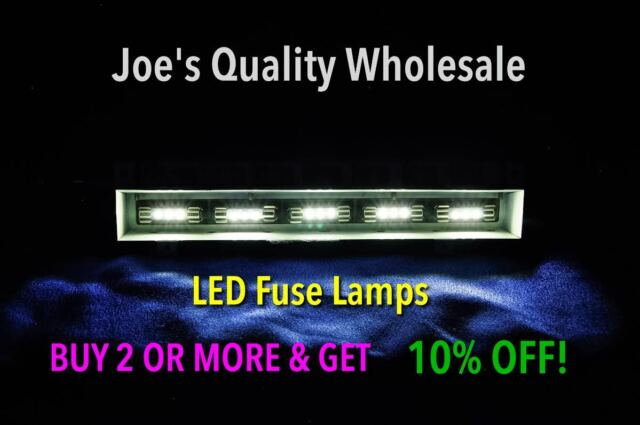 (100)WHITE LED FUSE LAMPS 8V- AUDIO STEREO 2215 2216 2275 2285 2325 2330 2385
