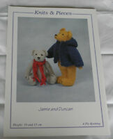 Jamie and Duncan Teddy Bear knitting pattern/ Instructions from knitwitzuk