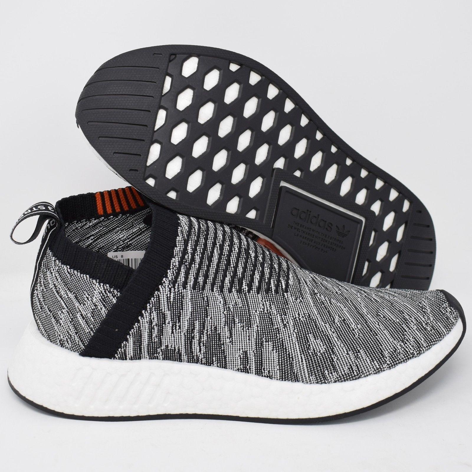 Adidas NMD_CS2 PK BZ0515 Mens Shoes Primeknit Originals Black & White