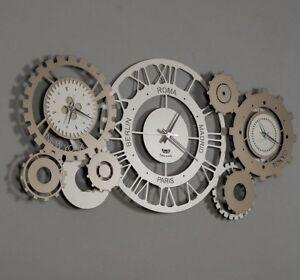 Orologio Da Muro Parete Moderno Steampunk Fuso Meccano Design Arti E