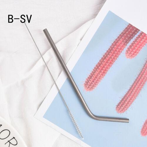 Titanium Straws With 1 Cleaner Brush Titanium Outdoor Camping Drinking Straws JK