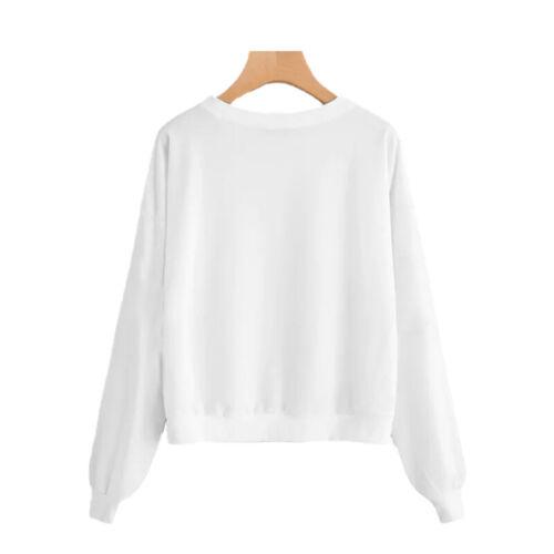 Damen Katze Sweatshirt Pullover Pulli Freizeit Lose Langarmshirt Tops Oberteile