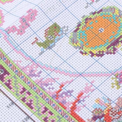 Kreuzstich Stickerei DIY Handarbeit Stickpackung Set Alte Weltkarte für