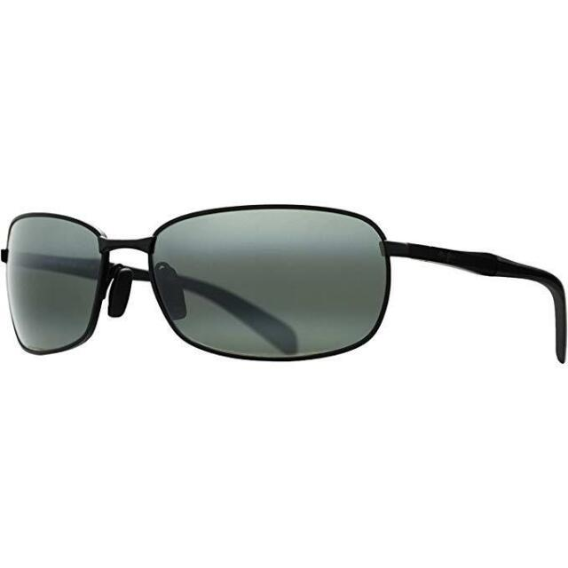 024c5ddff9 NEW Maui Jim LONG BEACH Matte Black w POLARIZED Neutral Grey Sunglass 240-2M