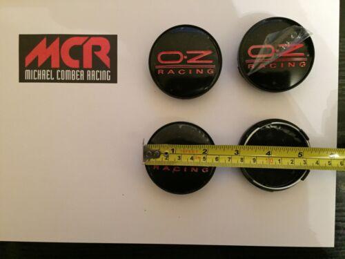 Centro de reemplazo de OZ Tapas de 60 mm Conjunto de 4 Rojo en Negro