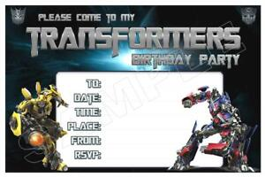 1 X Transformers Childrens Blank Fill