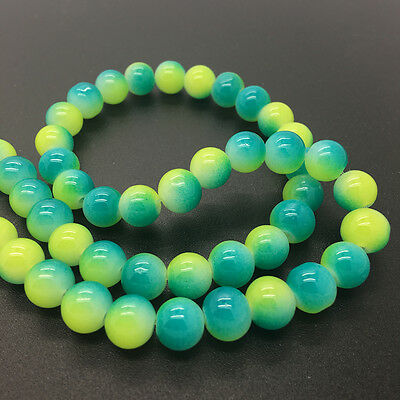 4mm 6mm 8mm10mm Double Color Glass Pearl Round Spacer Loose Beads Jewelry Making