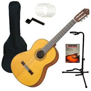 yamaha cg122msh classical guitar spruce top guitar essentials bundle 86792973142 ebay. Black Bedroom Furniture Sets. Home Design Ideas