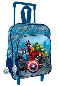 79d0fddc12 Avengers Blu zaino zainetto Trolley asilo ,scuola materna,bambino | eBay