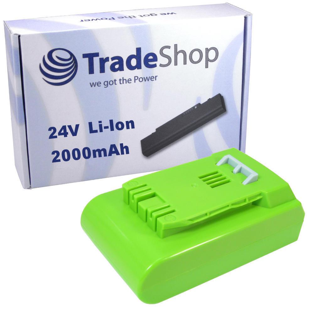 AKKU 24V 2000mAh Li-Ion für Grünworks Tools 2100107 G24 Rasentrimmer Basic