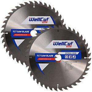 WellCut TCT Saw Blade Profi 300mm x 40T x 30mm Bore Pack of 2