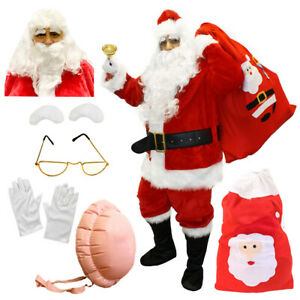 ADULTS-SANTA-CLAUS-COSTUME-PROFESSIONAL-SUIT-INFLATABLE-BELLY-FATHER-CHRISTMAS