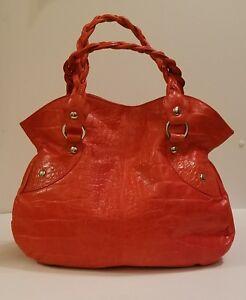 e08c8d6d7f Image is loading NWOT-Roberta-Gandolfi-Italian-Made-Salmon-Orange-Leather-