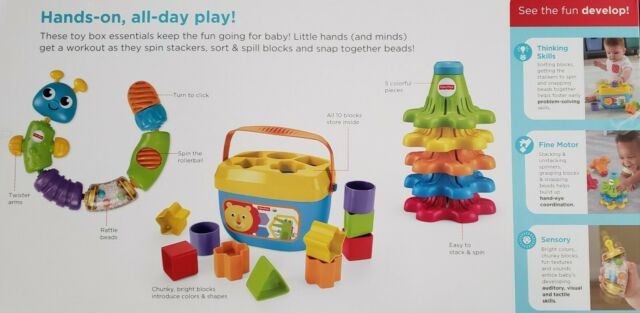 Snap /& Spin Infant Toy Trio Fisher-Price Sort