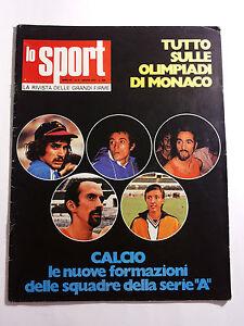 LO-SPORT-La-rivista-delle-grandi-firme-1972-Olimpiadi-di-Monaco-Calcio