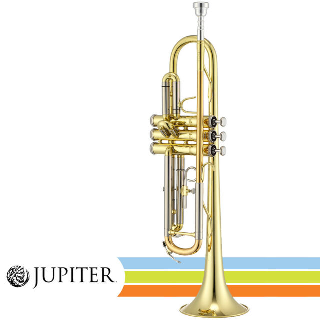 """NEW Jupiter JTR700A Lacquered Brass Body 4.8"""" Bell Key of Bb Trumpet with Case"""