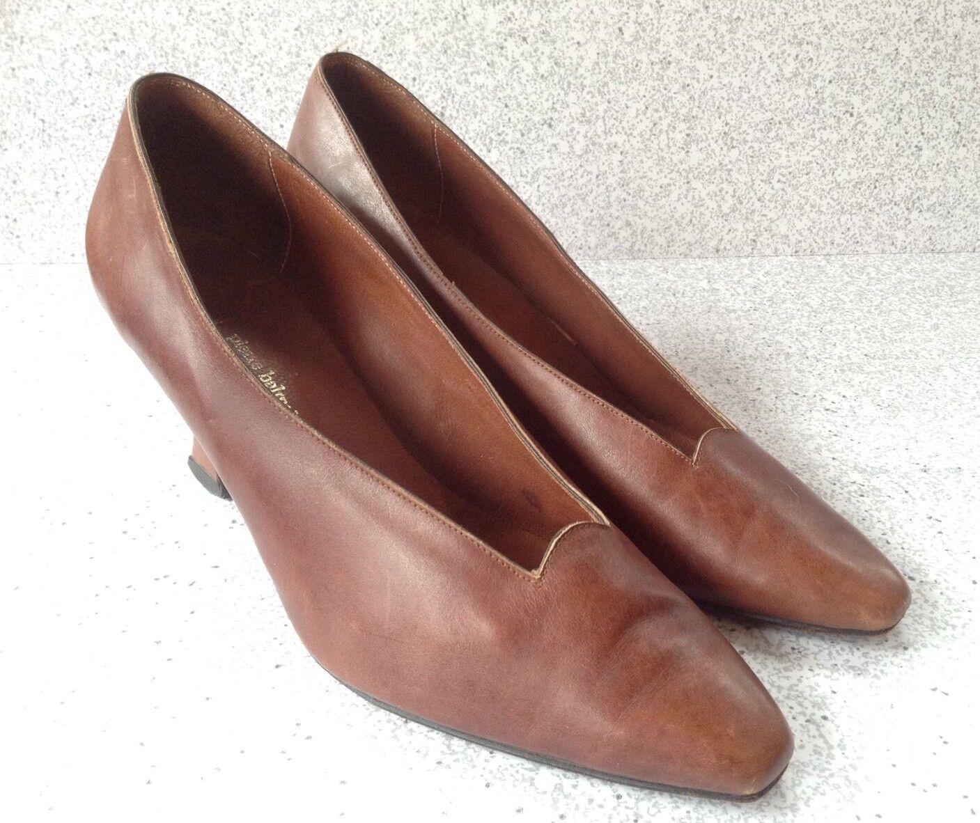 punto vendita Vintage Pierre Balmain Paris Donna  Marrone Marrone Marrone Leather Heels Dimensione 9B Rare  Amazing  prodotto di qualità