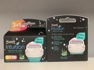 12 Wilkinson Intuition Naturals Sensitive Care Rasierklingen für Damen  NEU