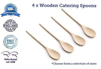 12 Beech Wood Spoons 12pc Wooden Cooking Spoon Utensils