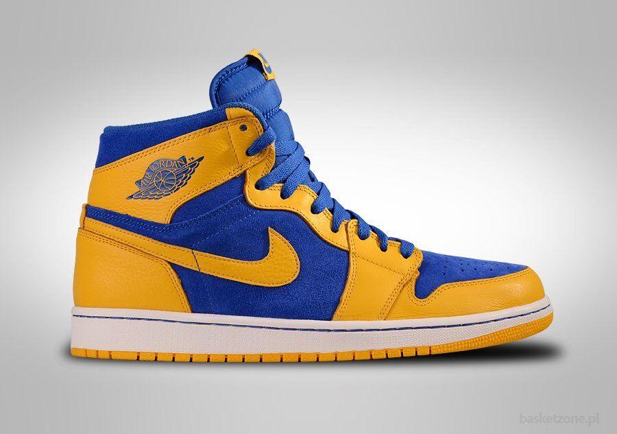2013 Nike Air Jordan 1 Retro High OG Laney Size 9.5. 555088-707 bred royal