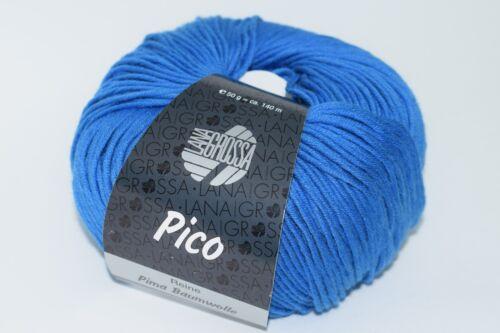 Lana Grossa Pico je 50g verschieden Farben Pima-Baumwolle Garn 17,30,28,22,27,7