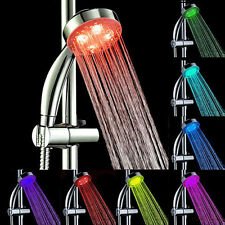 7 Color LED Changing Light Bright Water Bath Home Bathroom Shower Head Glow KY