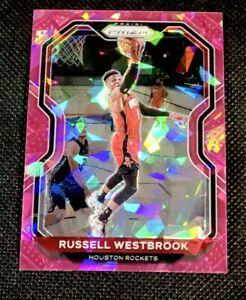 Russell Westbrook 2020-21 Panini Prizm #248 PINK Cracked Ice SSP MINT NBA MVP