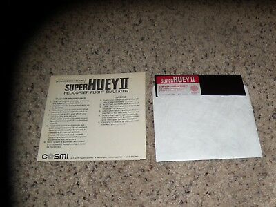 """Clever Super Huey Ii Helicopter Flight Simulator Commodore 64/128 C64 Game 5.25"""" Disk Software Computers/tablets & Networking"""