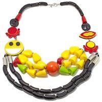 Sold Out Rare Rara Avis By Iris Apfel 'smiley' Multicolor Necklace Pendant